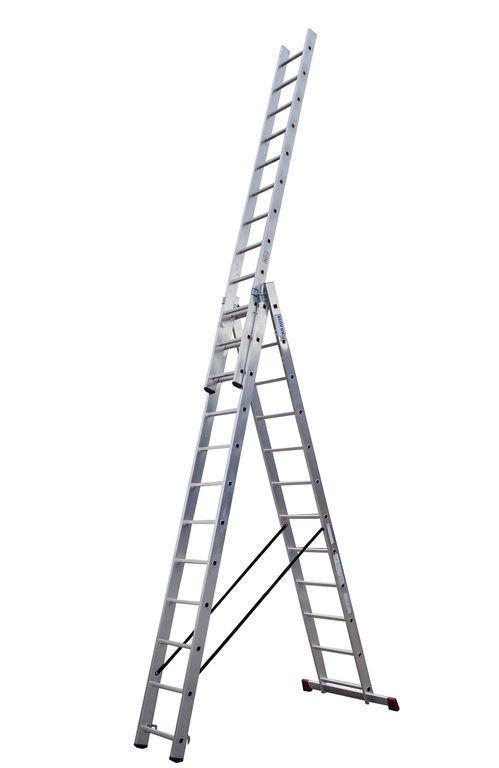 Универсальная лестница STABILO из трёх частей, 3 х 12 п