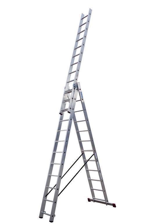 Универсальная лестница STABILO из трёх частей, 3 х 14 п