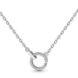 Серебряное колье с фианитом AQUAMARINE (#704536)