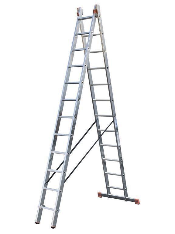 Универсальный лестница DUBILO из двух частей, 2 х 9м