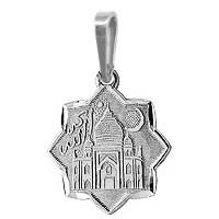 Серебряная подвеска AQUAMARINE #400439