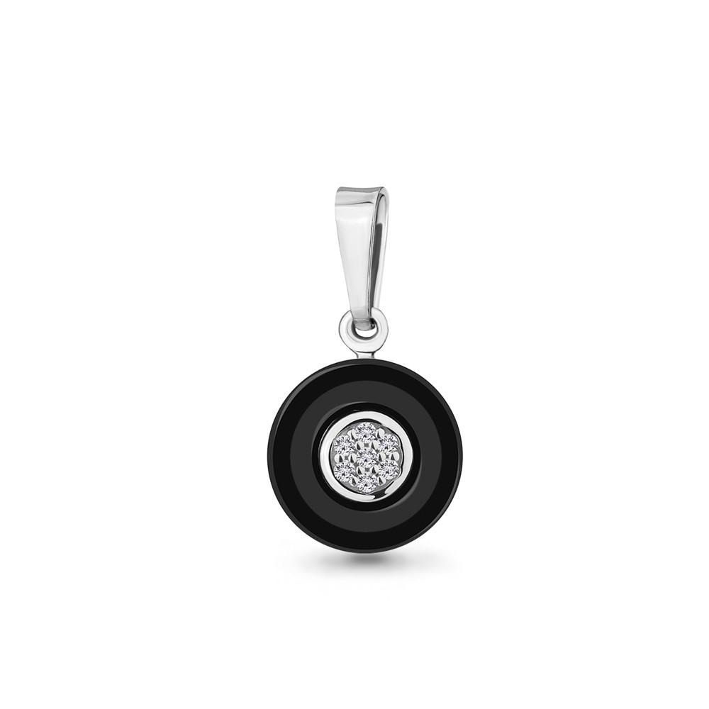 Серебряная подвеска с фианитом AQUAMARINE #711621