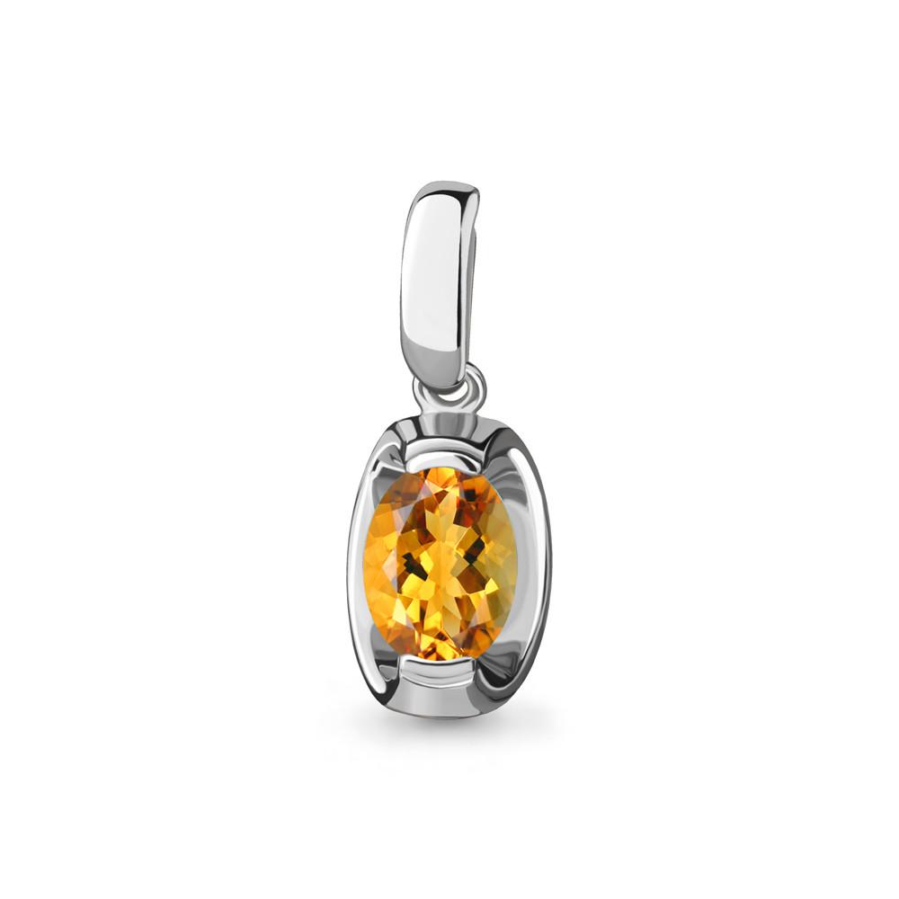 Серебряная подвеска с цитрином AQUAMARINE #705087