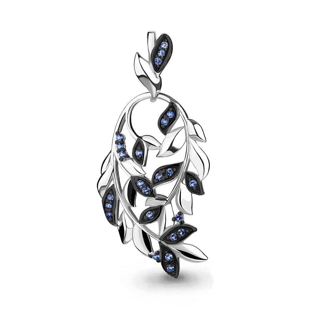 Серебряная подвеска с наносапфиром синт. AQUAMARINE #687356