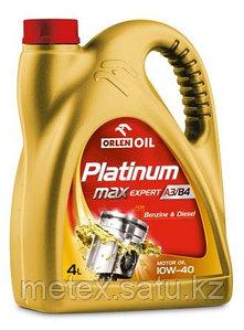 Высококачественное европейское моторное масло  Platinum MaxExpert А3/В4 10W40,1литр