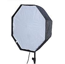 Постоянный свет - 2 октобокса 80 см на стойке с головкой на 4 лампы/160 Ватт, фото 2