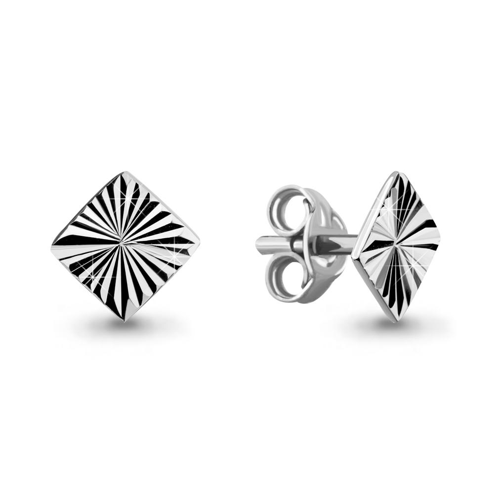 Серебряные серьги-пуссеты AQUAMARINE (#682959)