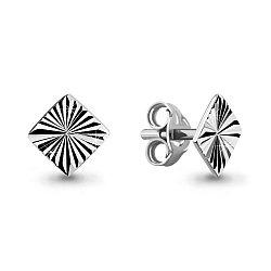 Серебряные серьги-пуссеты AQUAMARINE (#711827)