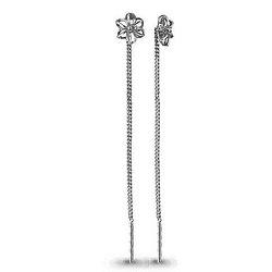 Серебряные серьги-протяжки AQUAMARINE (#582332)