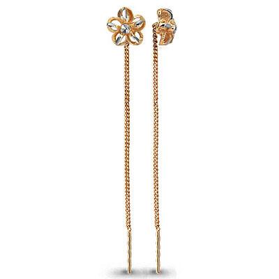 Серебряные серьги-протяжки AQUAMARINE (#664823)