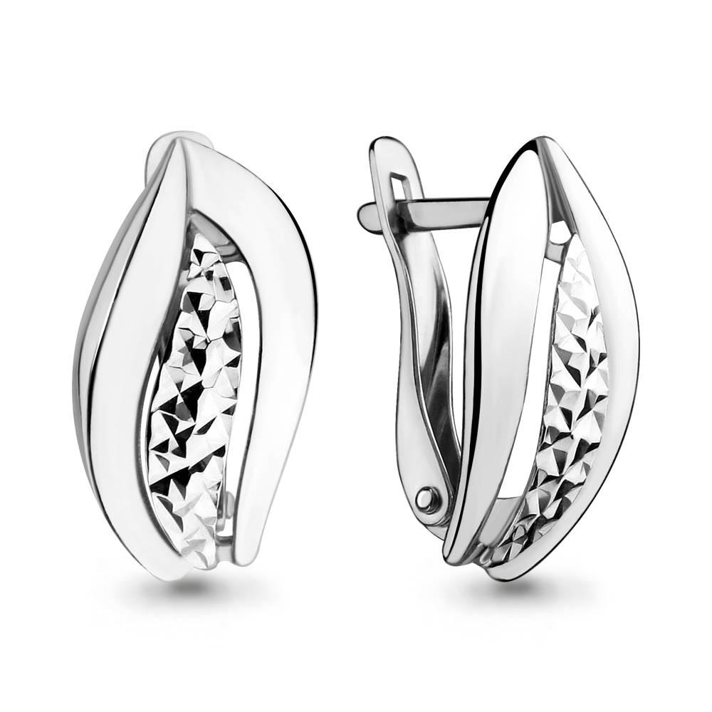 Серебряные серьги AQUAMARINE (#648851)