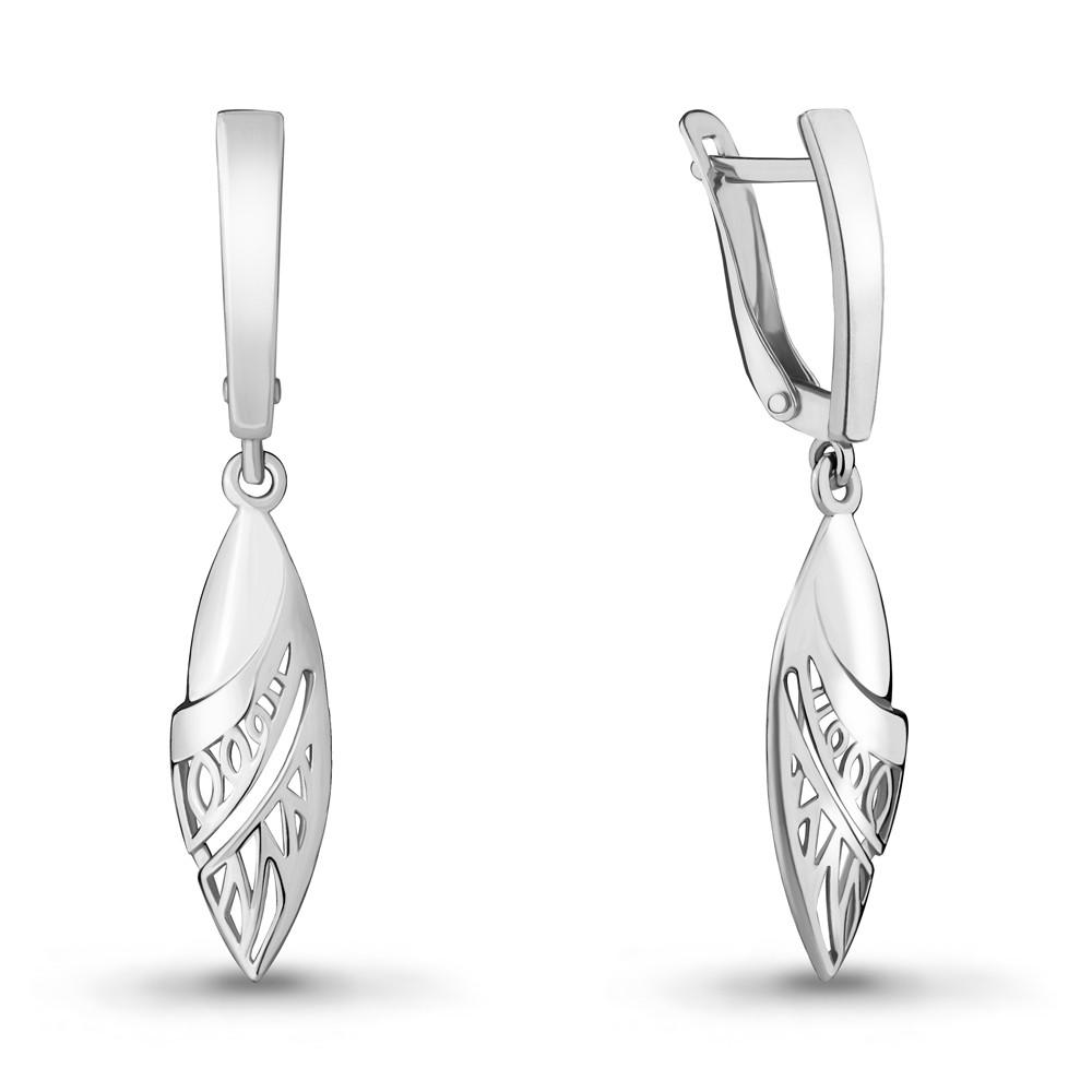 Серебряные Серьги-подвески AQUAMARINE (#703845)