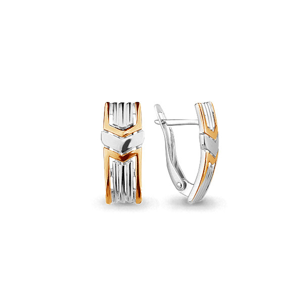 Серебряные серьги-классические AQUAMARINE (#705697)