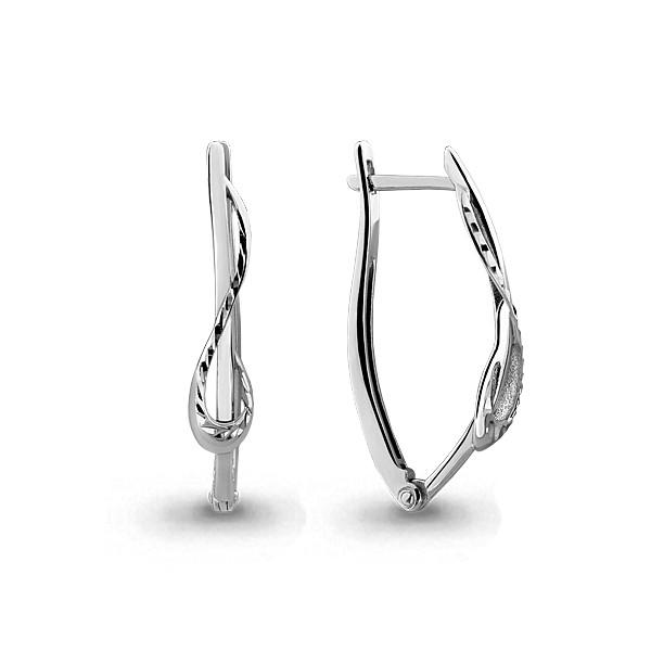 Серебряные Серьги-подвески AQUAMARINE (#636597)