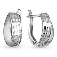 Серебряные серьги-классические AQUAMARINE (#605237)