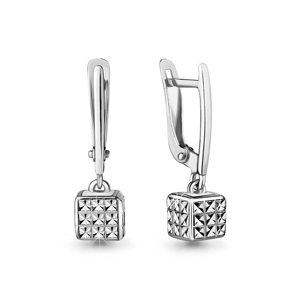 Серебряные Серьги-подвески AQUAMARINE (#716954)