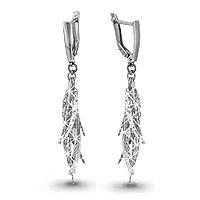 Серебряные Серьги-подвески AQUAMARINE (#605321)