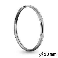Серебряные серьги-кольца AQUAMARINE (#404383)