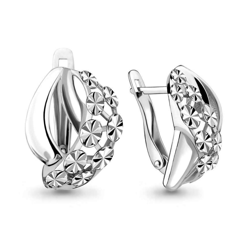 Серебряные серьги-классические AQUAMARINE (#650112)