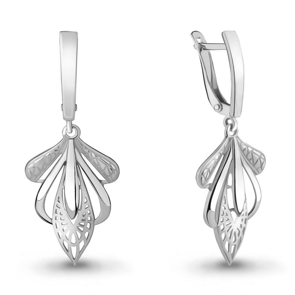 Серебряные Серьги-подвески AQUAMARINE (#701311)