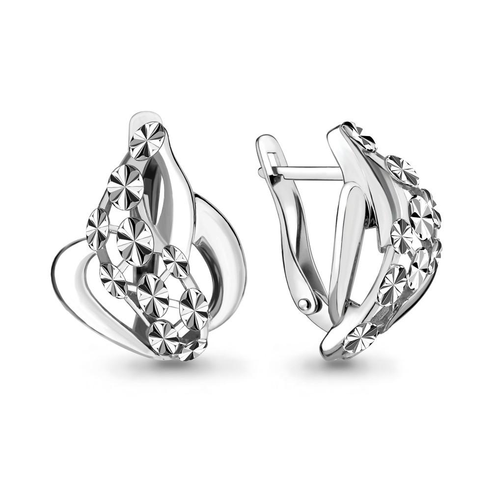 Серебряные серьги-классические AQUAMARINE (#644412)