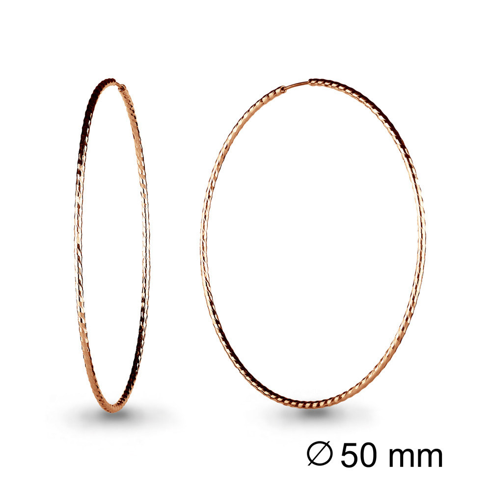 Серебряные серьги-кольца AQUAMARINE (#711947)