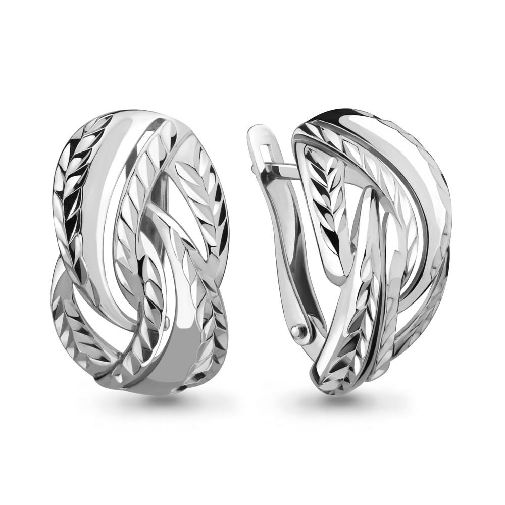 Серебряные серьги-классические AQUAMARINE (#650116)