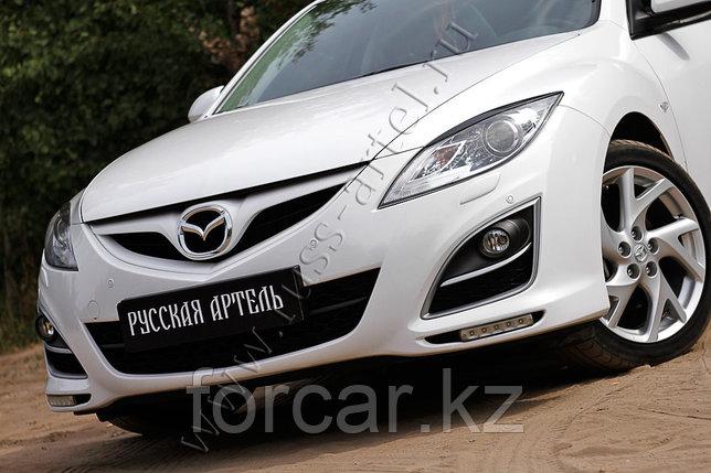 Накладки на передние фары (реснички) Mazda 6 2010-2012, фото 2