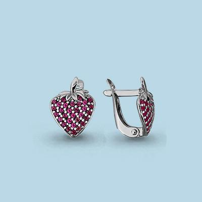 Серебряные серьги-классические с корундом AQUAMARINE (#711582)