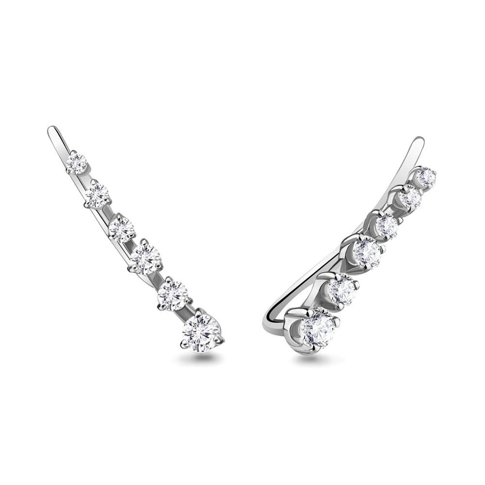 Серебряные серьги с фианитом AQUAMARINE #711539