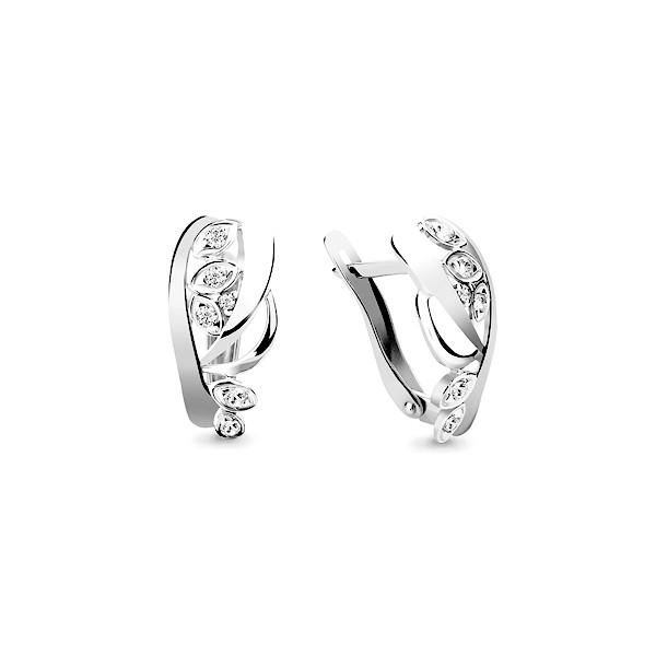 Серебряные серьги-классические с фианитом AQUAMARINE (#634926)