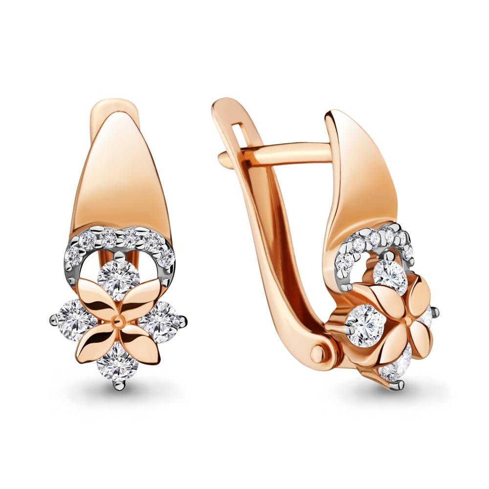 Серебряные серьги-классические с фианитом AQUAMARINE (#687055)