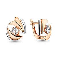 Серебряные серьги-классические с фианитом AQUAMARINE (#708703)