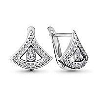 Серебряные серьги-классические с фианитом AQUAMARINE (#706474)