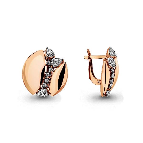 Серебряные серьги-классические с фианитом AQUAMARINE (#705840)