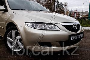 Накладки на передние фары (реснички) Mazda 6 2002-2007