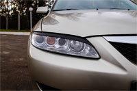 Накладки на передние фары (реснички) Mazda 6 2002-2007, фото 2