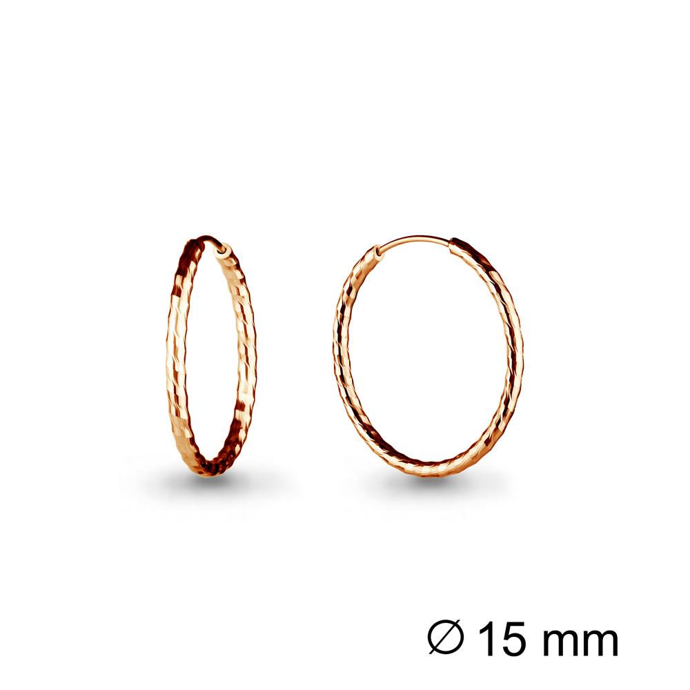 Серебряные серьги-кольца AQUAMARINE (#711942)