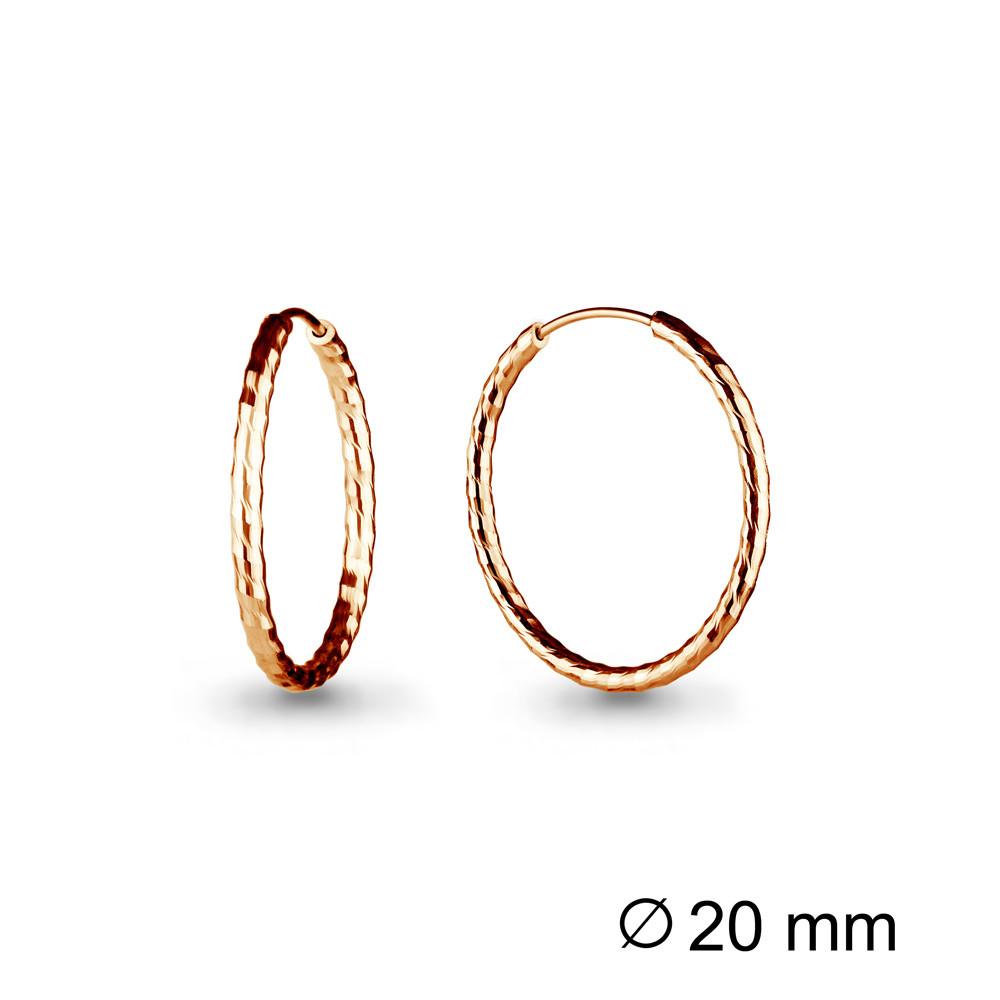 Серебряные Серьги-Кольца AQUAMARINE (#711943)