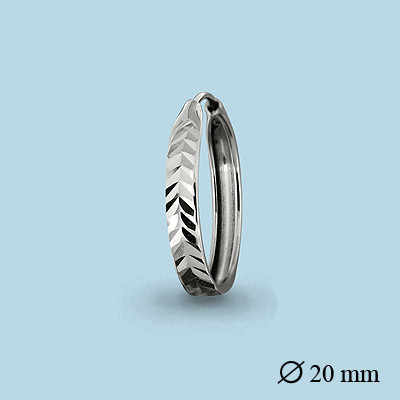 Серебряные серьги-кольца AQUAMARINE (#404675)