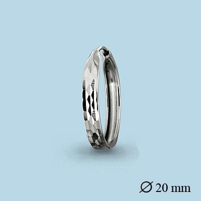 Серебряные серьги-кольца AQUAMARINE (#404679)
