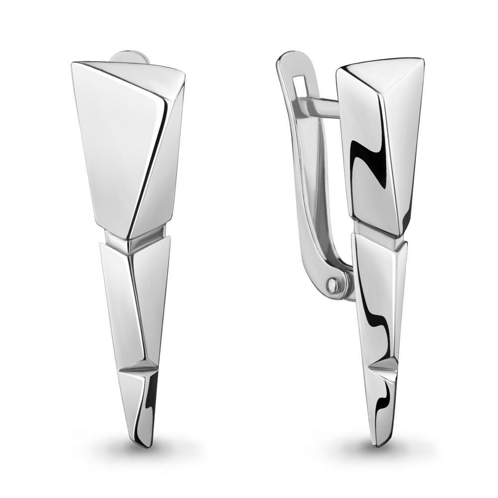 Серебряные серьги-классические AQUAMARINE (#714898)