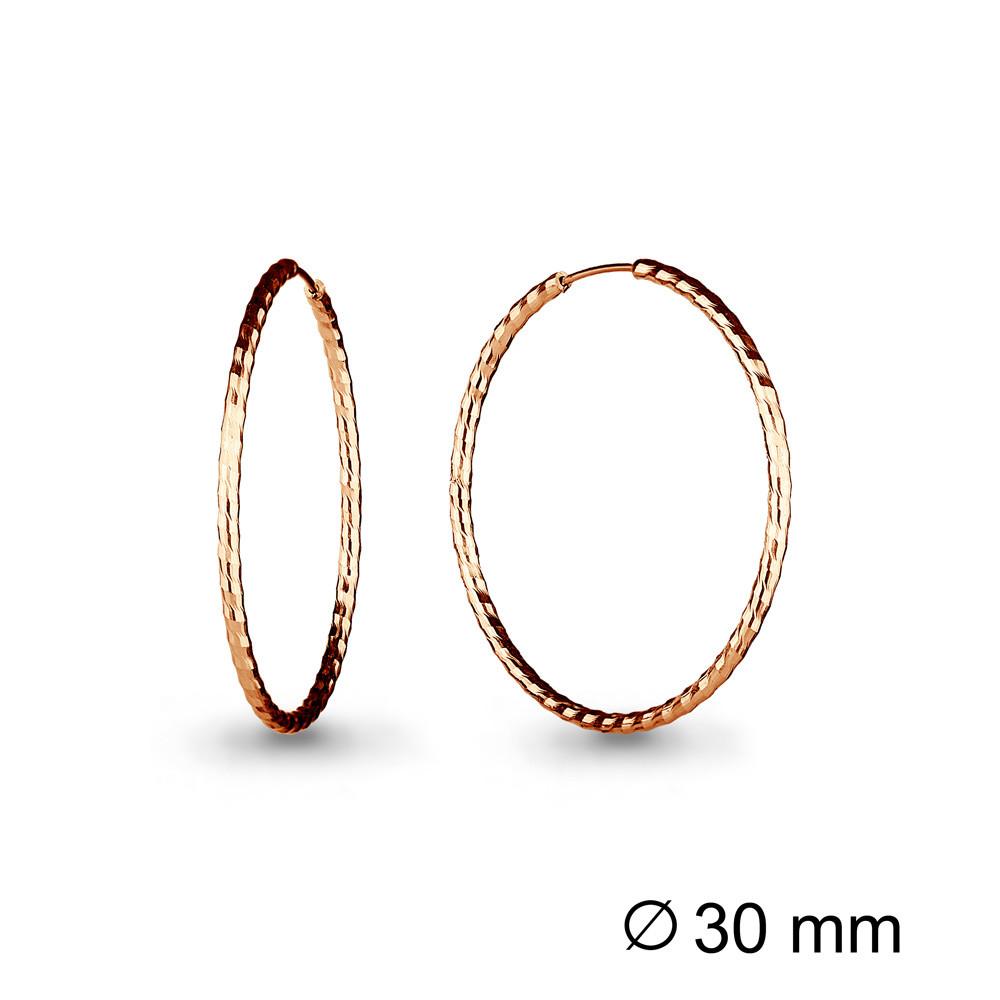 Серебряные серьги-кольца AQUAMARINE (#711945)