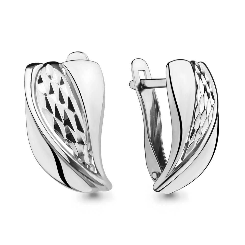 Серебряные серьги-классические AQUAMARINE (#664407)