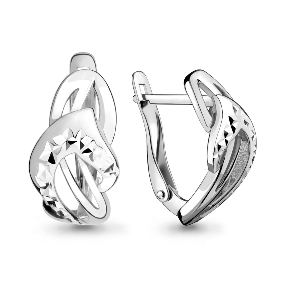 Серебряные серьги-классические AQUAMARINE (#708672)
