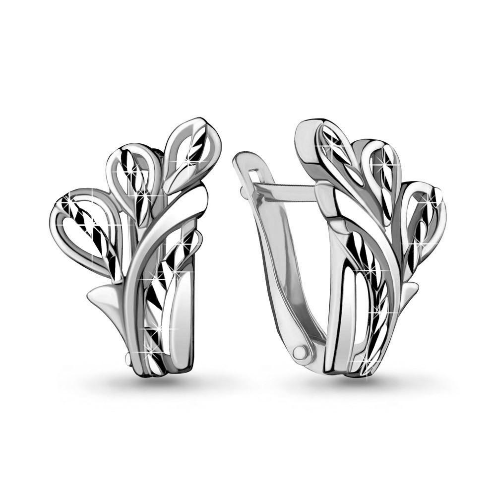 Серебряные серьги-классические AQUAMARINE (#714896)
