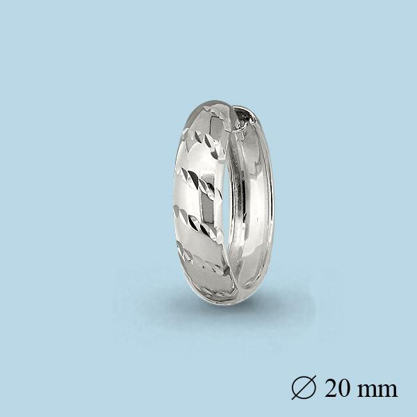 Серебряные Серьги-Кольца AQUAMARINE (#664915)