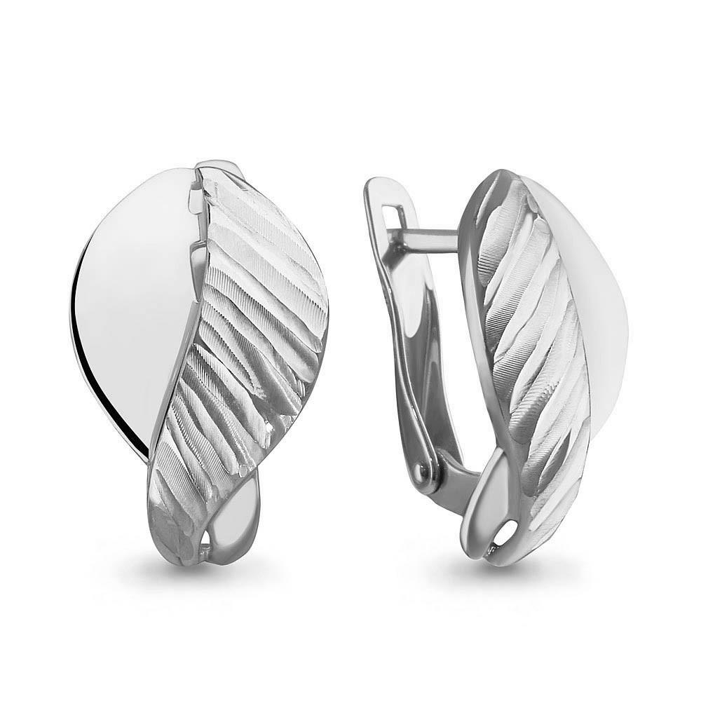 Серебряные серьги AQUAMARINE (#657568)