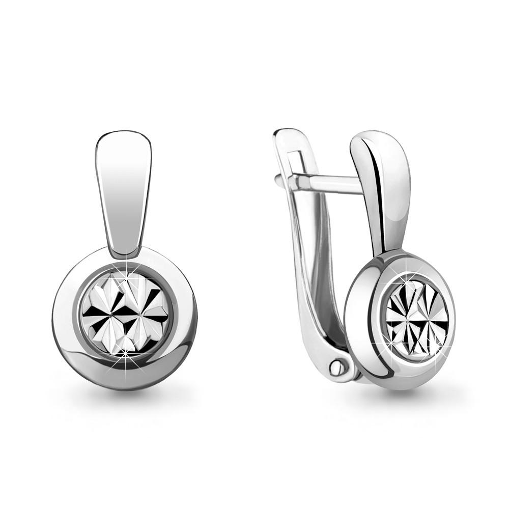 Серебряные Серьги-подвески AQUAMARINE (#706638)