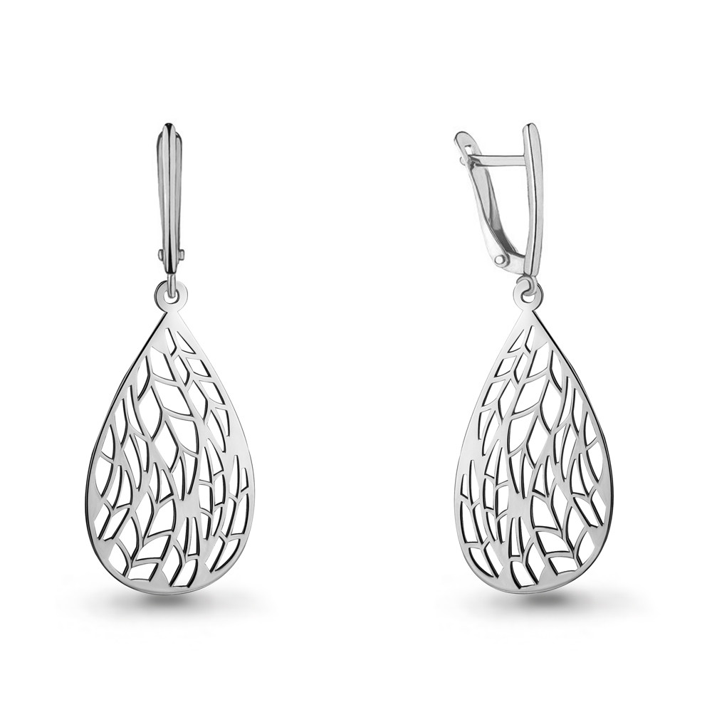 Серебряные Серьги-подвески AQUAMARINE (#712462)